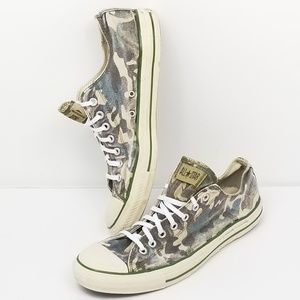 Converse All Star Low Top Camo Shoes Faded Size 12